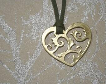 brass heart lace