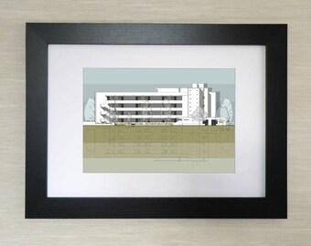 Architectural Print - Isokon Building