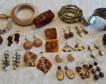 Lot of Assorted Earrings and Bracelets - 1990's