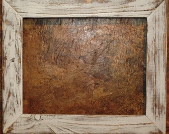 "1-1/2"" White Distressed Picture Frame"