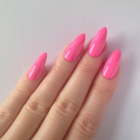 Neon Pink Stiletto Nails Neon Pink Stiletto Nails