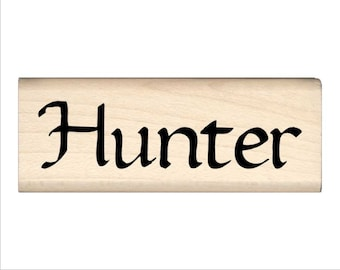 Name Rubber Stamp for Kids  - Hunter