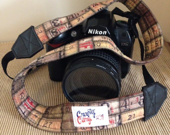 Camera Strap - Handmade - Measuring Tape