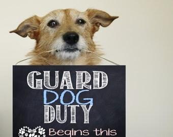 Baby Guard Dog Sign Etsy