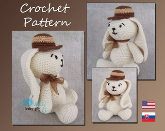 Crochet Pattern, Amigurumi, Bunny, Animal Crochet Pattern, Rabbit, CP-109