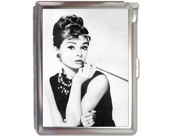 Audrey Hepburn Cigarette Case Lighter Wallet Business Card Holder
