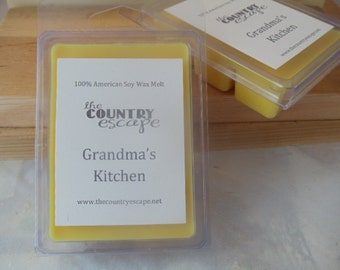 Grandmas Kitchen Scented 100% Soy Wax Melt - Holiday Comfort -Maximum Scented