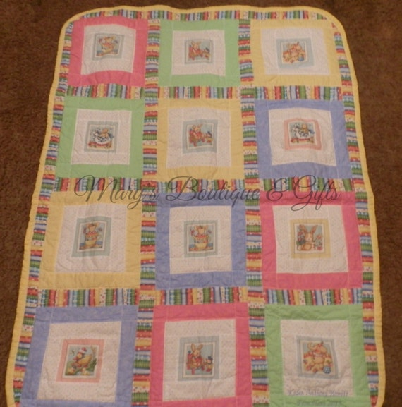 Crib Quilt Size: Baby Quilt Crib Size 38 X 45 All Cotton Material, Machine