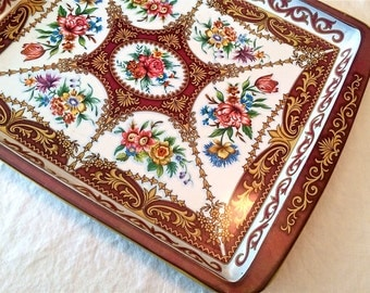 Vintage Metal Tray Daher Decorated Ware Made in England