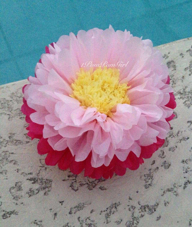Giant paper flowers tissue paper pom pom flower baby shower giant paper flowers tissue paper pom pom flower baby shower wedding mightylinksfo