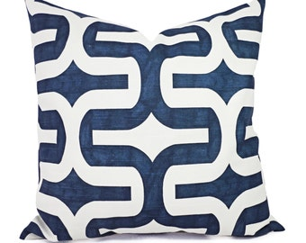 Two Navy Blue Pillow Covers - Navy Throw Pillow Covers - 20 x 20 Inch Pillow 12 x 18 Inch Pillow - Navy Accent Pillows - Decorative Pillow