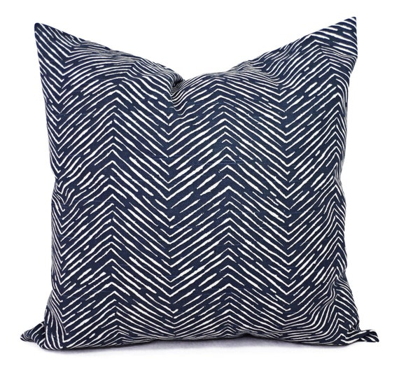 Navy Blue Decorative Pillow Covers : Blue Decorative Pillow Covers Two Navy Chevron Throw Pillow