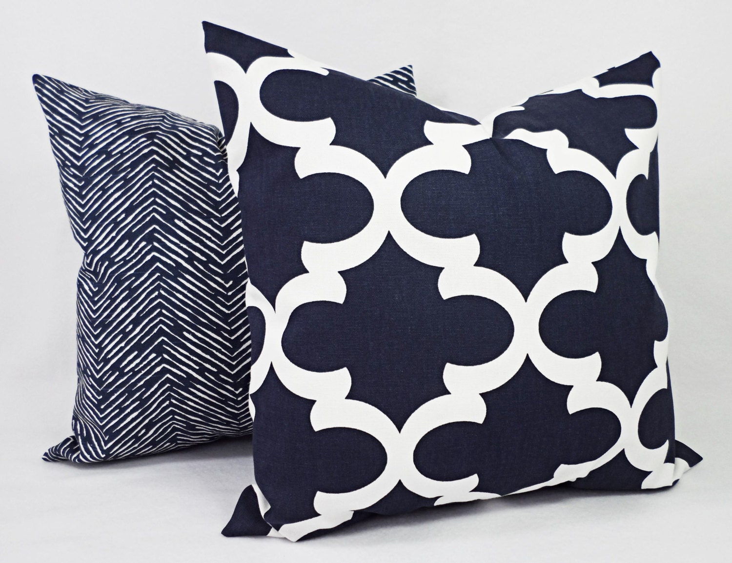 15% OFF SALE Navy And White Pillow Cover Navy Blue Throw