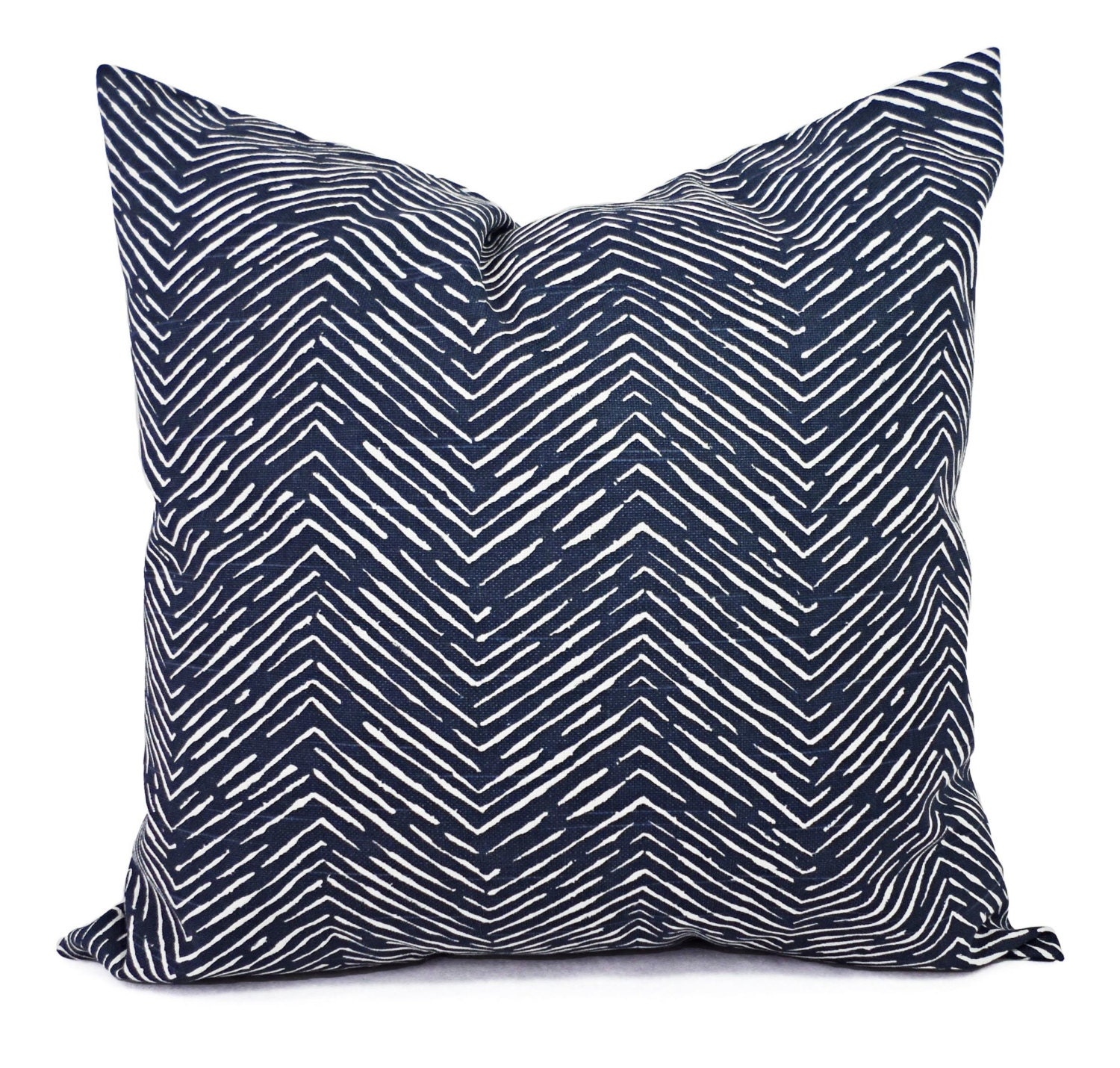 Navy Blue Throw Pillow Covers : Blue Decorative Pillow Covers Two Navy Chevron Throw Pillow