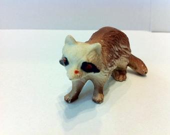1980s Ceramic Raccoon Figurine