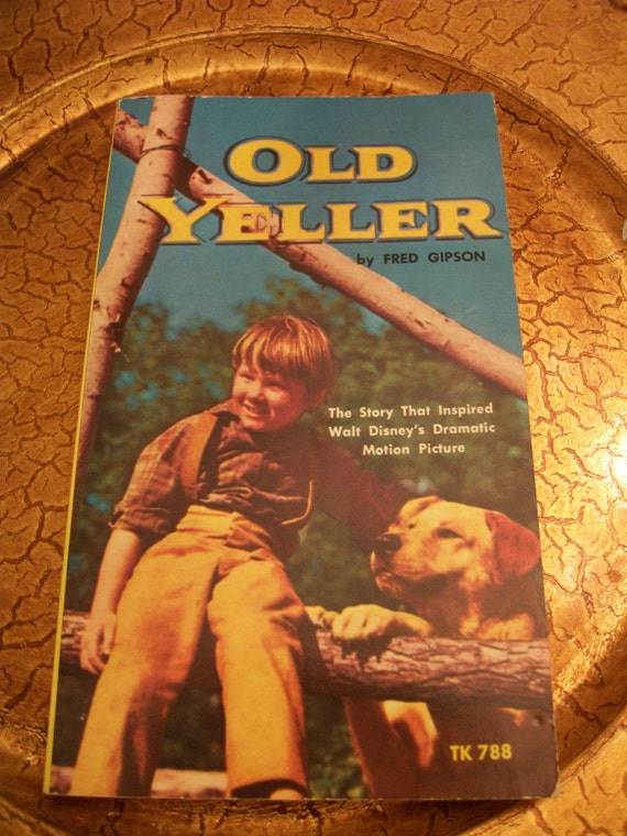 Old Yeller Book Cover : Vintage s paperback edition old yeller by fred gipson