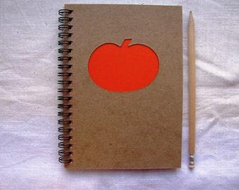 Pumpkin Peek-a-boo- 5 x 7 journal- Your choice Peek a boo color