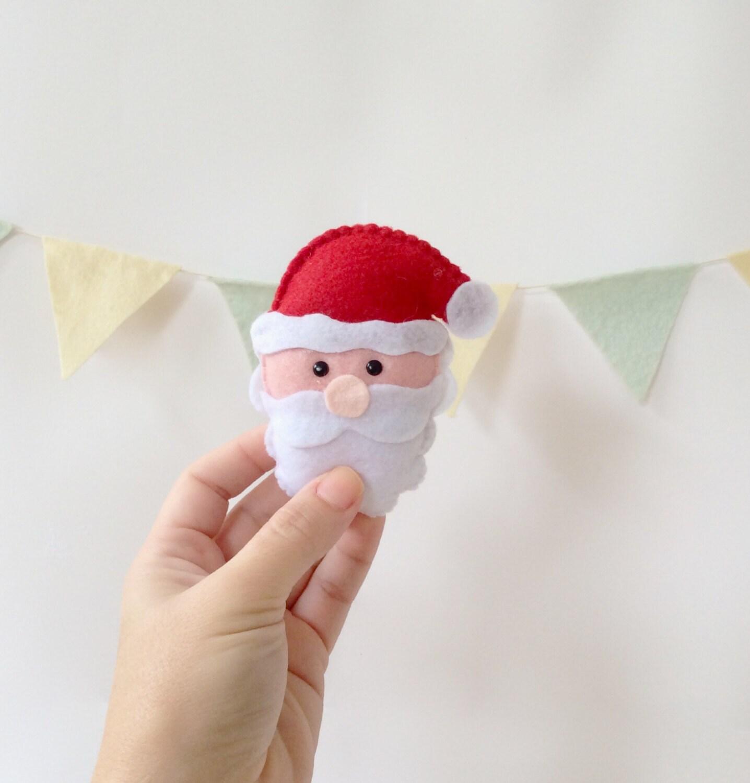 Santa Claus ornament - felt christmas ornament - tree decoration - handmade ornament - santa Claus Christmas gift - unique Christmas gift