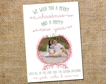 Vintage Arch Wreath Holiday Card