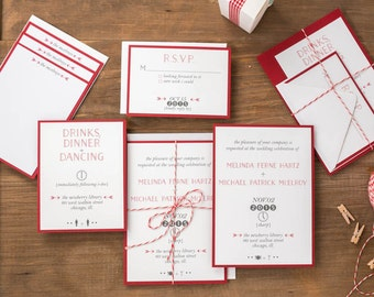 Brooklyn Wedding Invitation Suite - Symbol, Modern Design