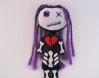 Dead Doll Hellena--Voodoo Doll--Zombie Doll--Vampire Doll--Goth Doll--Punk Rock Doll--Skeleton Doll-Living Dead Girl--Dead Chic Rock Doll