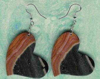 Earrings - Succor Creek Jasper, Sterling Silver