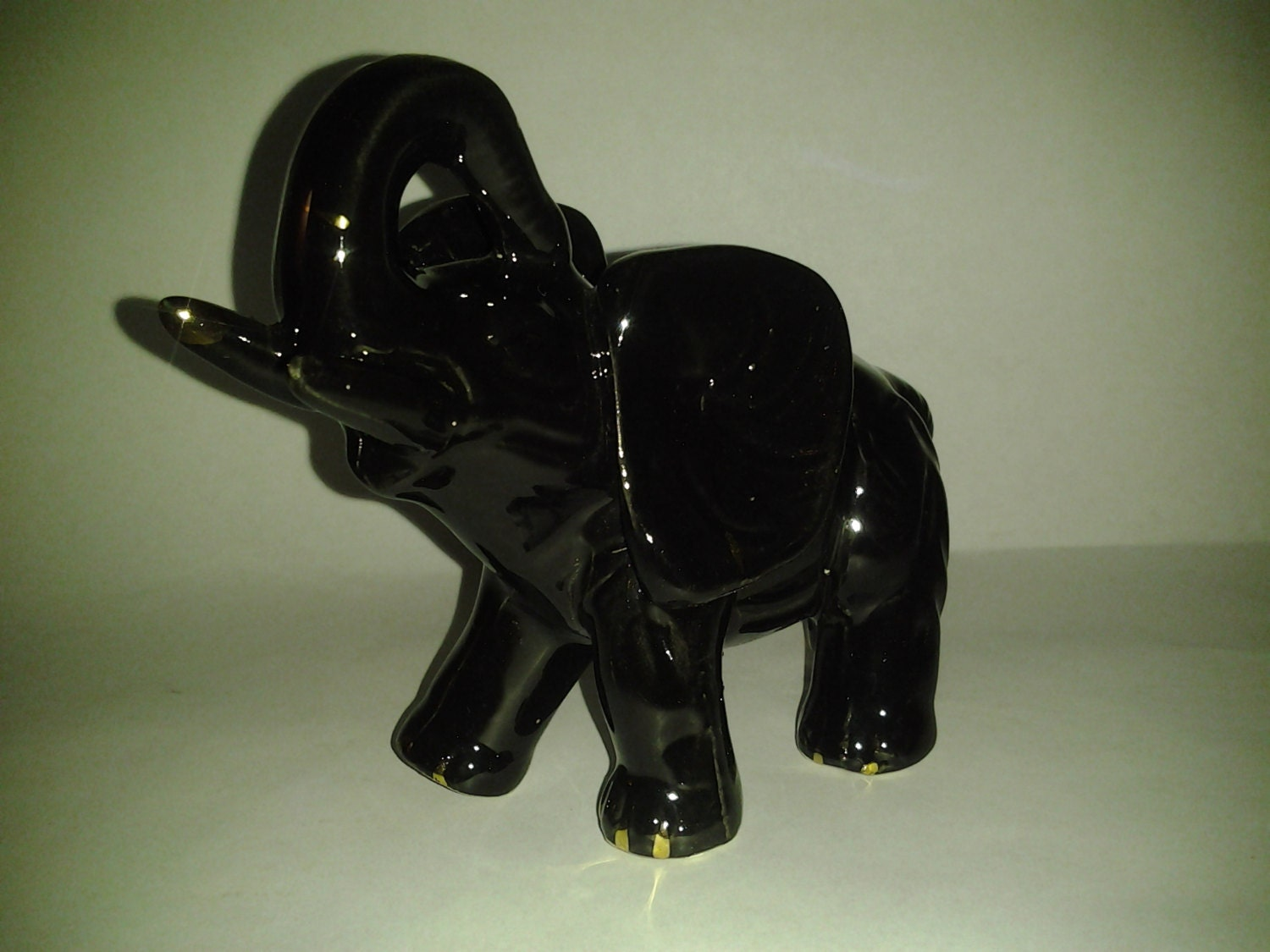 Chinese Porcelain Elephant Figurine A Superb Vintage Chinese