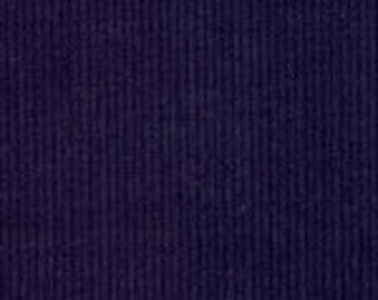 HALF YARD Navy Blue Corduroy Fabric Finders Cotton Fabric