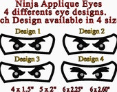 Lego Ninja Applique Eyes  4 Designs in 4 sizes for you to choose from...In the hoop