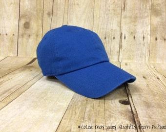 Monogrammed Hat Royal Blue