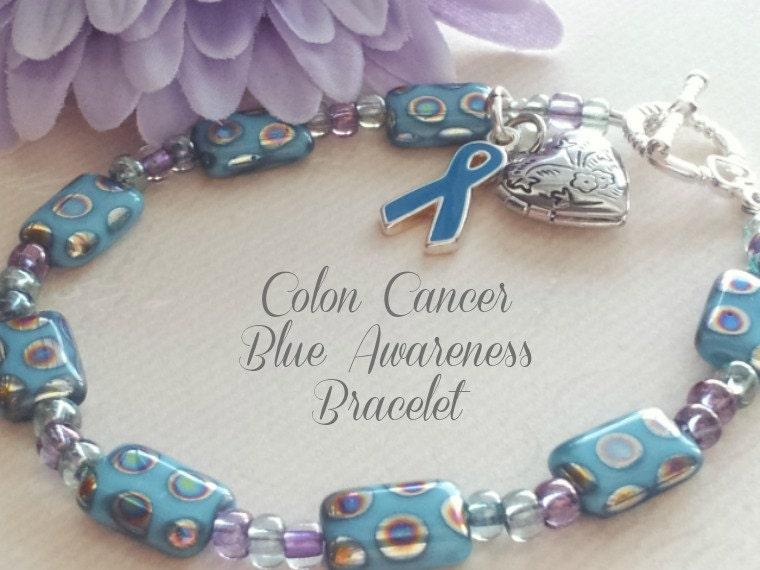 blue awareness bracelet colon cancer crohns disease foster