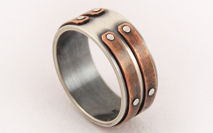 engagement ringunique men ringmens rustic zoom - Mens Wedding Rings Unique