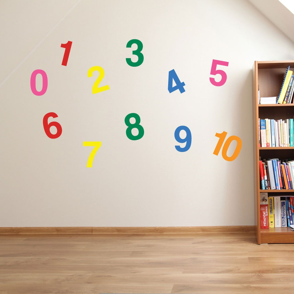 1 to 10 numbers wall stickers kids nursery play room home art zoom amipublicfo Gallery