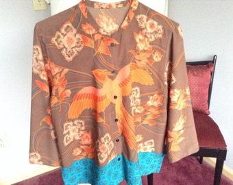 Clearance sale! Vintage-Bird of Pardise blouse