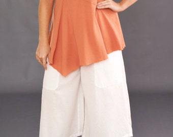 CLEARANCE-White Gaucho Pant