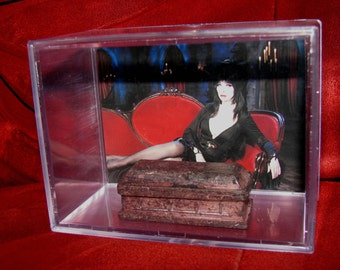 "ELVIRA ""Mistress of the Dark"" collectible 'Coffin' display / unique gift idea..ships out fast great addition to a horror collection"
