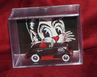 """The Stray Cats """"Rat Rod"""" Collectible (Inspired) display!! Clean,ready to ship,great addition to Cat Collection"""