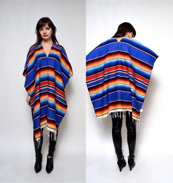 Mexiko Decke: Vintage Mexikanische Indianer Decke Cape Poncho