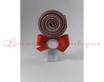 Patriotic Lollipop Hair Clippe