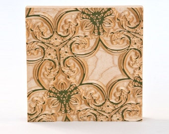 Decorative Carving - Wood Wallpaper Pattern - Decorative Wall Sculpture - Geometric Home Decor - Small Relief Woodworking