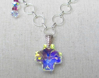 Swarovski Crystal Cross Pendant Necklace ON SALE NOW at 20% off