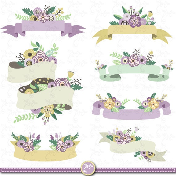 clipart floral banner - photo #3