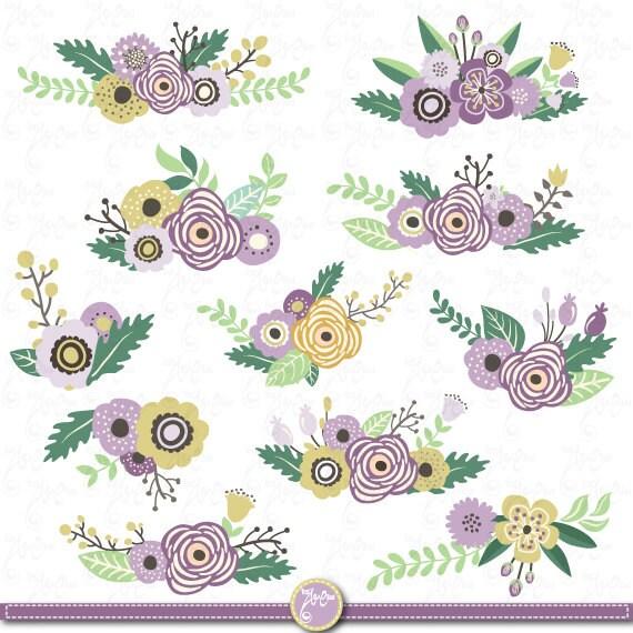 Flower Banners clipart FLOWER BANNER clip art