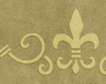 Paris Scroll Border Stencil
