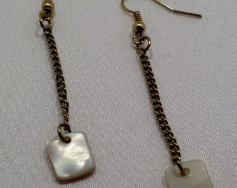 Shell dangle earrings.