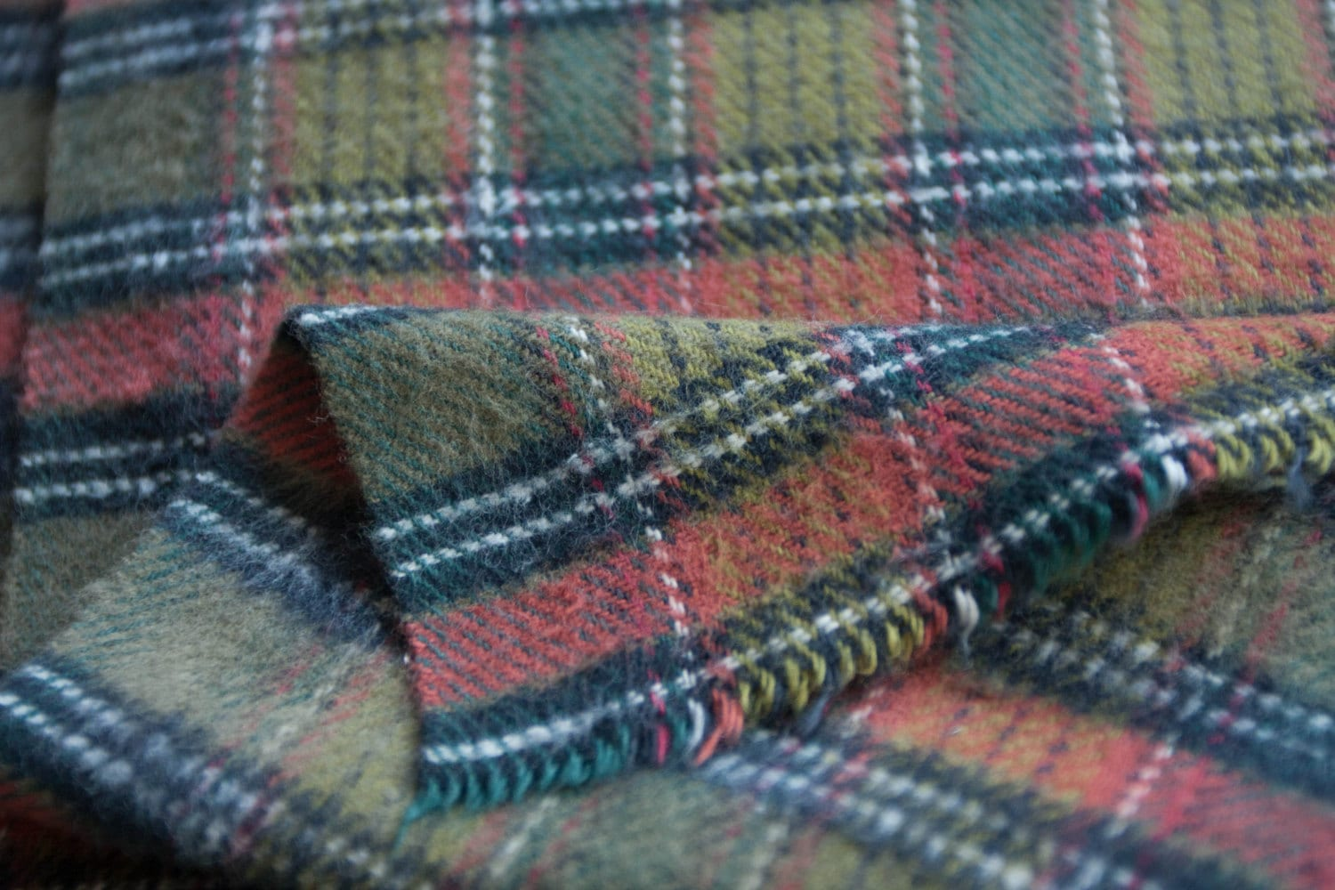 Plaid flannel fabric by the yard heavyweight thick for Flannel fabric