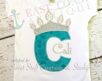 ICE PRINCESS ALPHA machine embroidery design