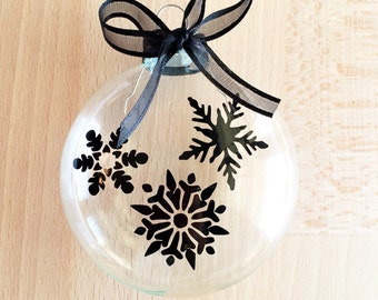 Custom, Personalized Snowflake Ornament