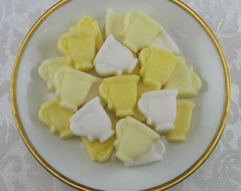 36 Yellow Mini Teacup shaped sugar cubes for tea party, shower, coffee, tea, party favor, bridal, hostess gift