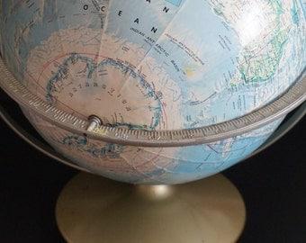 FREE SHIPPING, Vintage, Rand McNally World Portrait Globe
